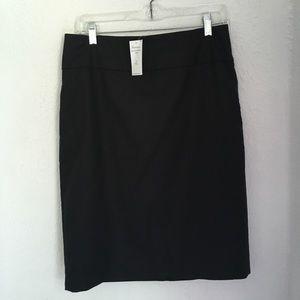 NWT Banana Republic Suit Skirt Black 8 Tall